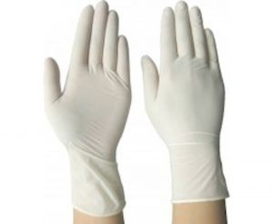LATEX GLOVES FOR ONE-TIME USE (with powder, 100 pieces), S