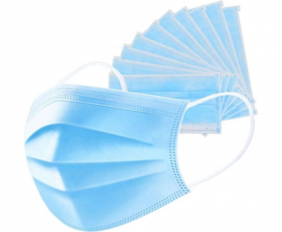 SURGICAL PROTECTIVE MASK, THREE LAYERS (50 pcs)
