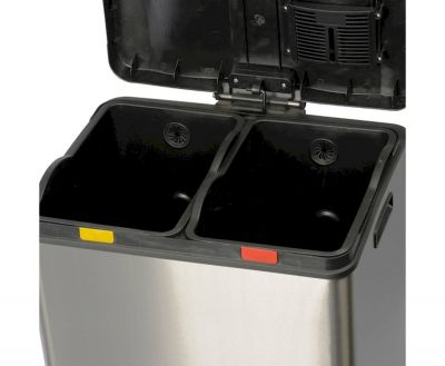 WASTE BIN FOR SEPARATE COLLECTION, 2X30 L MULTIFLUX