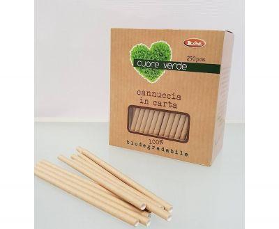 PAPER straws, biodegradable, 21 CM