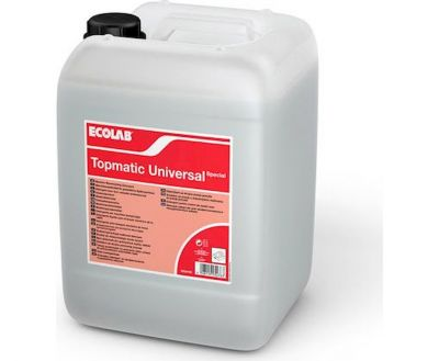 DISHWASHER DETERGENT AND DISINFECTANT TOPMATIC UNIVERSAL SPECIAL 12kg, ECOLAB